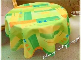Obrus plamoodporny drukowany PROSTOKĄTY zielone - na zamówienie