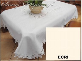 Obrusy z gipiurą (wzór 143) Obrus koloru białego. Na zdjęciu rozmiar 110x160.